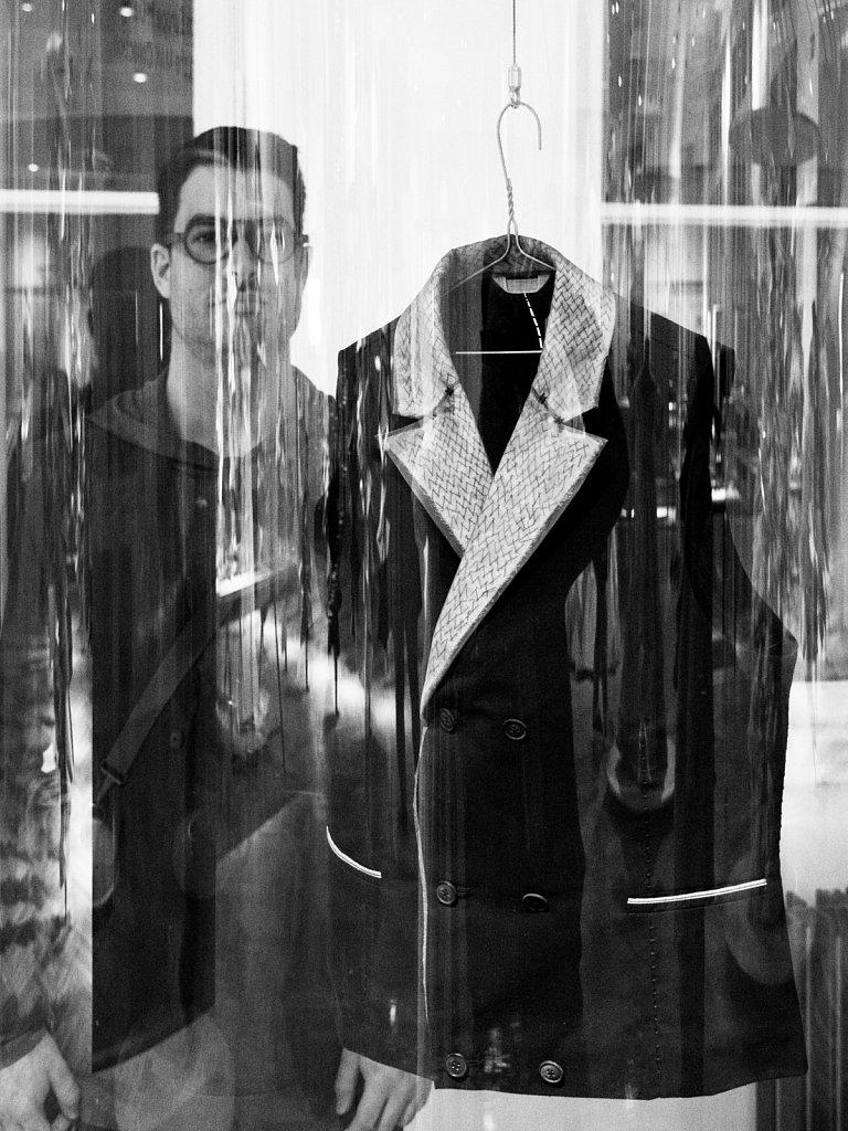 Portrait of Leopold Bossert with waistcoat designed by him, Vienna Austria 2017